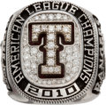 Baseball Collectibles:Others, 2010 Texas Rangers American League Championship Ring. ...