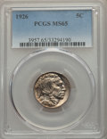 Buffalo Nickels: , 1926 5C MS65 PCGS. PCGS Population: (1097/526). NG...