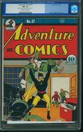 Golden Age (1938-1955):Superhero, Adventure Comics #57 - Nicolas Cage Collection (DC, 1940) CGC NM- 9.2 Off-white to white pages.