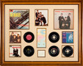 Music Memorabilia:Autographs and Signed Items, Beatles Early UK and US Records and Autographs Display (1963)....