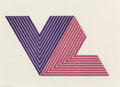 Fine Art - Work on Paper:Print, Frank Stella (b. 1936). IFAFA I, from V Series, 1968.Lithograph in colors on Lowell paper. 11-1/8 x 19-1/2 inches (...