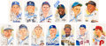 Baseball Collectibles:Others, 1990's Perez Steele Signed Postcards Lot of 90. ...
