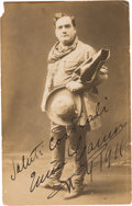 Photography:Signed, Enrico Caruso Photograph Signed with a Second Unsigned Photograph.... (Total: 2 Items)