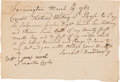 Autographs:Military Figures, [French & Indian War]. David Towsey Payment Request Signed ...