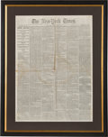 Miscellaneous:Newspaper, New York Times Newspaper Announcing the Death of John Wilkes Booth. ...