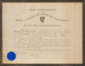 Autographs:U.S. Presidents, Theodore Roosevelt Military Appointment Signed ...