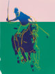 Andy Warhol (1928-1987) Polo (Pink and Green), 1985 Collage with silkscreen 24-1/4 x 18 inches (61.6 x 45.7 cm) Stam