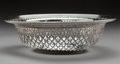 Silver Holloware, American:Bowls, A Tiffany & Co. Silver Bowl with Reticulated Rim, New York,1907-1947. Marks: TIFFANY & CO, 18147B MAKERS 5374, STERLINGS...