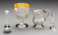 Silver Holloware, American:Cups, Four English and American Coin Silver and Silver Pieces