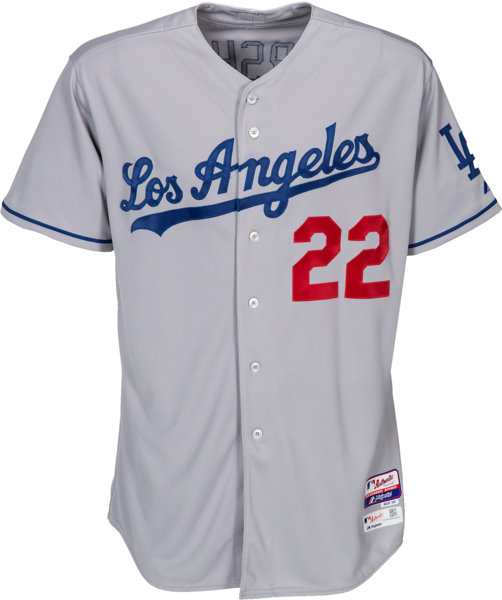 f67adcb30 2015 Clayton Kershaw Game Worn Los Angeles Dodgers Jersey -