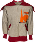 Football Collectibles:Uniforms, 1938-39 Brooklyn Football Dodgers (NFL) Game Worn Sideline Sweater....