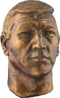 Football Collectibles:Others, 1973 Johnny Unitas Life Sized Bust by Artist Fred Kail....