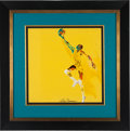 Basketball Collectibles:Others, 1973 Nate Thurmond Original Painting by Leroy Neiman....