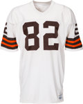 Football Collectibles:Uniforms, Circa 1987-88 Ozzie Newsome Game Worn Cleveland Browns Durene Jersey. ...