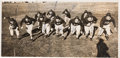 Football Collectibles:Photos, 1938 Texas Christian University Horned Frogs Multi-Signed Panoramic Original News Photograph with Davey O'Brien. ...