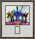Music Memorabilia:Autographs and Signed Items, Beatles and George Martin Autographs in Yellow SubmarineDisplay....