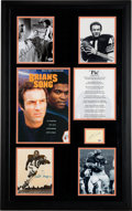 Movie/TV Memorabilia:Autographs and Signed Items, James Caan, Billy Dee Williams, Gayle Sayers, & Brian Piccolo Signed Brian's Song Framed Display....