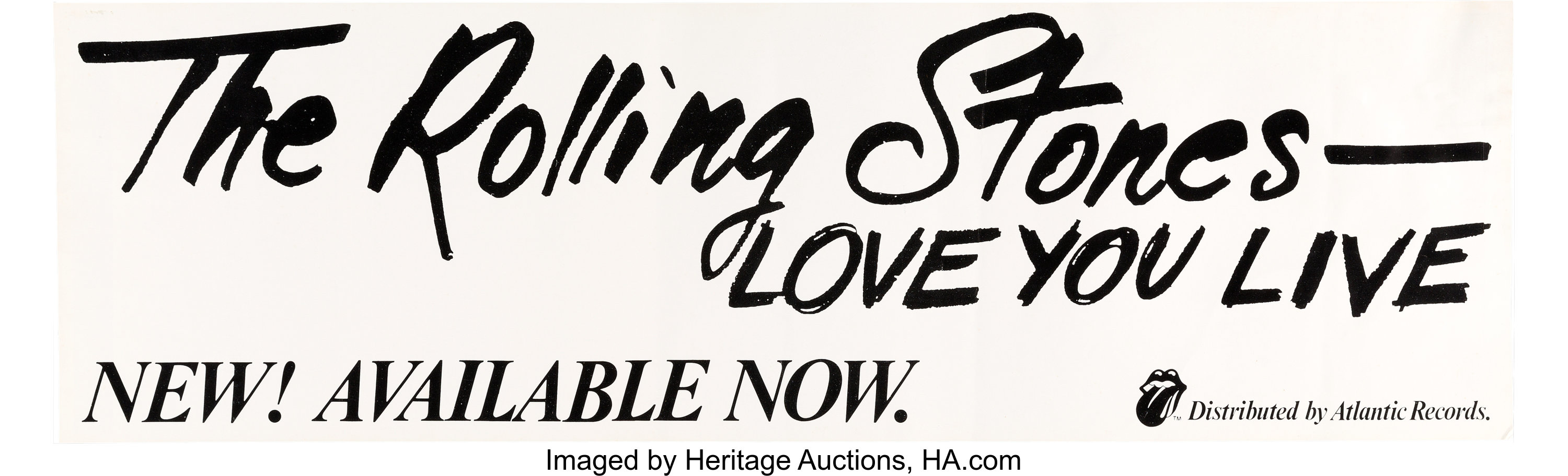 Rolling Stones Love You Live Promotional Poster (Rolling