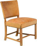 Furniture : Continental, Ole Wanscher (Danish, 1903-1985). Desk Chair, circa 1960, Fritz Hansen. Leather, teak. 32 x 22 x 22 inches (81.3 x 55.9 ...