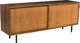 Florence Knoll (American, born 1917) Credenza, 1940s, Knoll Walnut, cane, leather, steel 29-3/8 x 72 x 18 inches (74