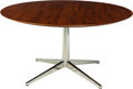 Furniture : American, Florence Knoll (American, born 1917). Dining Table, 1960s,Knoll International. Walnut, chromed steel. 28 x 54 inches (7...