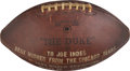 Football Collectibles:Balls, 1963 Presentational Game Ball from the World Champion Chicago Bears....