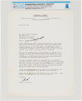 Explorers:Space Exploration, Neil Armstrong: Harrison Schmitt Typed Signed Letter Seeking to Raise Funds For His New Mexico Senate Campaign Race 1976 Direc...
