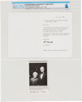 Explorers:Space Exploration, Neil Armstrong: Typed Signed Letter From Rocketry Pioneer Hermann Oberth Thanking Neil Armstrong For His Birthday Greetings, D...