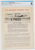 Explorers:Space Exploration, X-15: NACA High Speed Flight Station (HSFS) X-Press Newsletter, Extra Edition, Dated October, 1957, Directly From ...