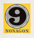 Fine Art - Work on Paper:Print, Robert Indiana (1928-2018). Nonagon, from Polygons,1975. Screenprint in colors on Arches 88 paper. 24 x 22 inches (...