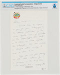 Explorers:Space Exploration, Neil Armstrong: Letter From Lamar Hunt Requesting An Autograph on a Schematic of Apollo Astronauts, Circa 1976 Directly From T...