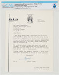 Explorers:Space Exploration, Neil Armstrong: 1970 Typed Letter Signed by Noted Photographer Yousuf Karsh to Neil Armstrong Thanking Him For an Inscribed Ph...
