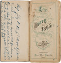 Autographs:Military Figures, 1865 Diary of John Beech of the 4th New Jersey Infantry....