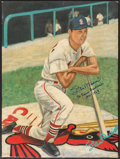 "Autographs:Others, Stan Musial ""St. Louis Cardinals 1941-1963"" Signed OriginalArtwork...."