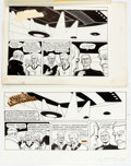 Ronald Wilkins Chance Encounters #008 Sunday Comic Strip Proposal Original Art G Comic Art