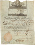 Autographs:U.S. Presidents, Andrew Jackson Signed Scallop Top Ship's Passport....