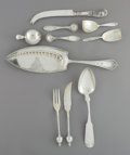 Silver Flatware, American:Other , Ten American Silver Flatware Pieces, 19th century and later. Marks:(various). 11-3/4 inches (29.8 cm) (longest, fish sl... (Total: 10)