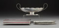 Silver Holloware, American:Trays, Three American Silver Table Items, late 19th-early 20th century . Marks: (various). 4 x 10-1/2 x 5-3/8 inches (10.2 x 26.7 x... (Total: 3 Items)