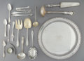 Silver & Vertu:Flatware, Twenty-Three Silver-Plated Flatware Pieces with a Tray, late 19th century and later. 0-3/8 x 12-1/2 inches (1.0 x 31.8 cm) (... (Total: 24 Items)