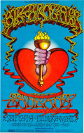 Music Memorabilia:Photos, Big Brother and the Holding Company, Santana and Chicago Transit Authority Fillmore West Concert Poster (San Francisco, Septem...