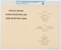 Apollo 11 Quarantine: Lunar Receiving Lab Crew Menu from Stouffer Foods for Day Two, Directly From The Armstrong F