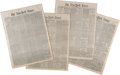 Miscellaneous:Newspaper, [Civil War]. A Group of Four January 1865 Issues of the New York Times Newspaper. ... (Total: 4 )