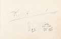 Autographs:Artists, Sergei Rachmaninoff Autograph Musical Quotation Signed ...