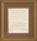 Autographs:U.S. Presidents, John Quincy Adams Musical Copyright Patent Signed...