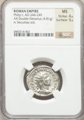 Ancients:Ancient Lots , Ancients: ANCIENT LOTS. Roman Imperial. Ca. AD 222-249. Lot ofthree (3) AR denarius and antoniniani. NGC AU-MS.... (Total: 3coins)