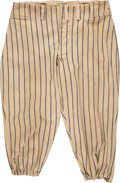 Baseball Collectibles:Uniforms, 1939 Bill Dickey Game Worn New York Yankees Pants....