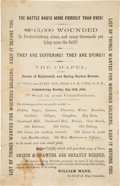Miscellaneous:Broadside, [Civil War]. May 1864 Circular Requesting Supplies for Wounded Soldiers....