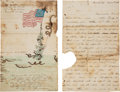 Miscellaneous, Anti-Lincoln Sketch with Letter....