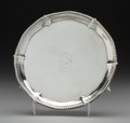 Silver Holloware, British:Holloware, A John Carter George III Silver Salver, London, 1774. Marks: (lion passant), (crowned leopard), T, IC. 1-1/8 x 6-1/4...