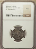 Ancients:Ancient Lots , Ancients: ANCIENT LOTS. Roman Imperial. Ca. AD 270-337. Lot ofthree (3) BI nummus and antoniniani. NGC AU-MS.... (Total: 3 coins)